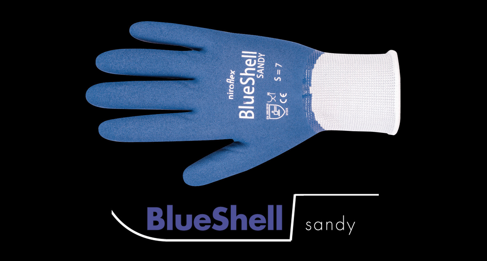 Wasserdichte Arbeitshandschuhe: Niroflex Blueshell sandy
