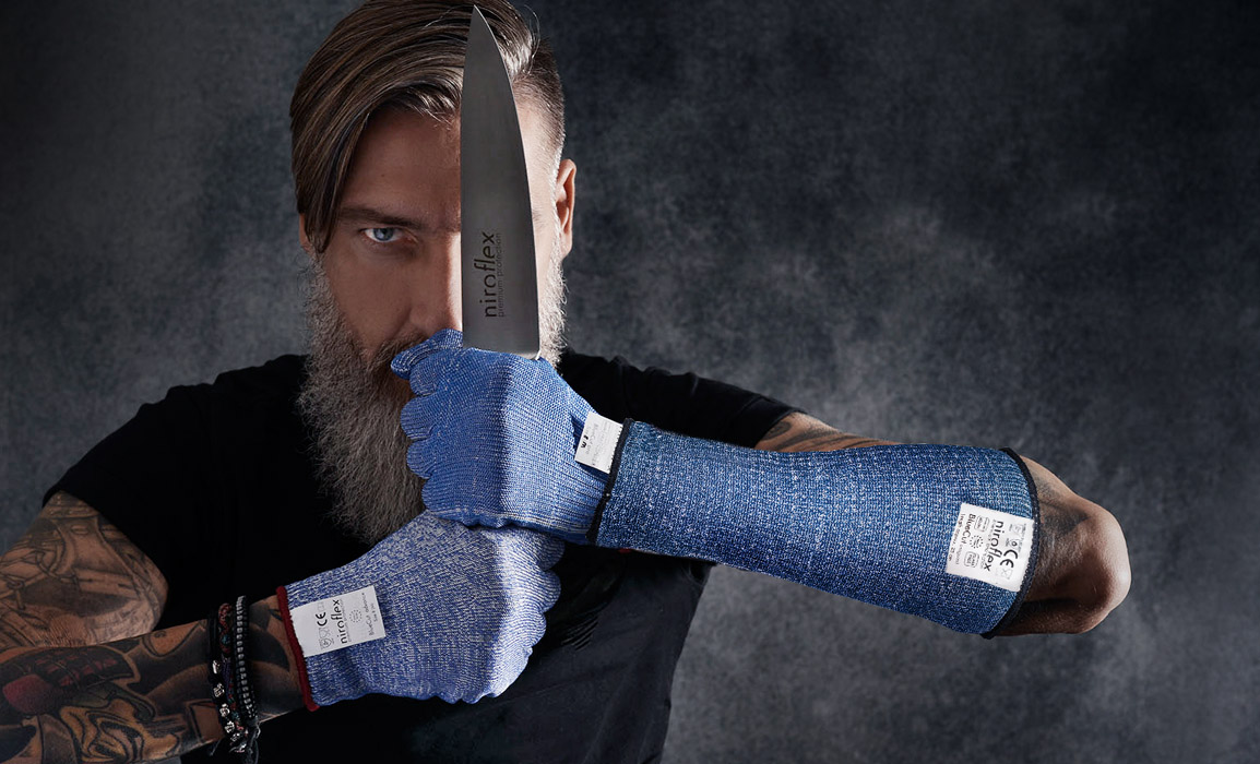 The BlueCut armguard – for even more safety!
