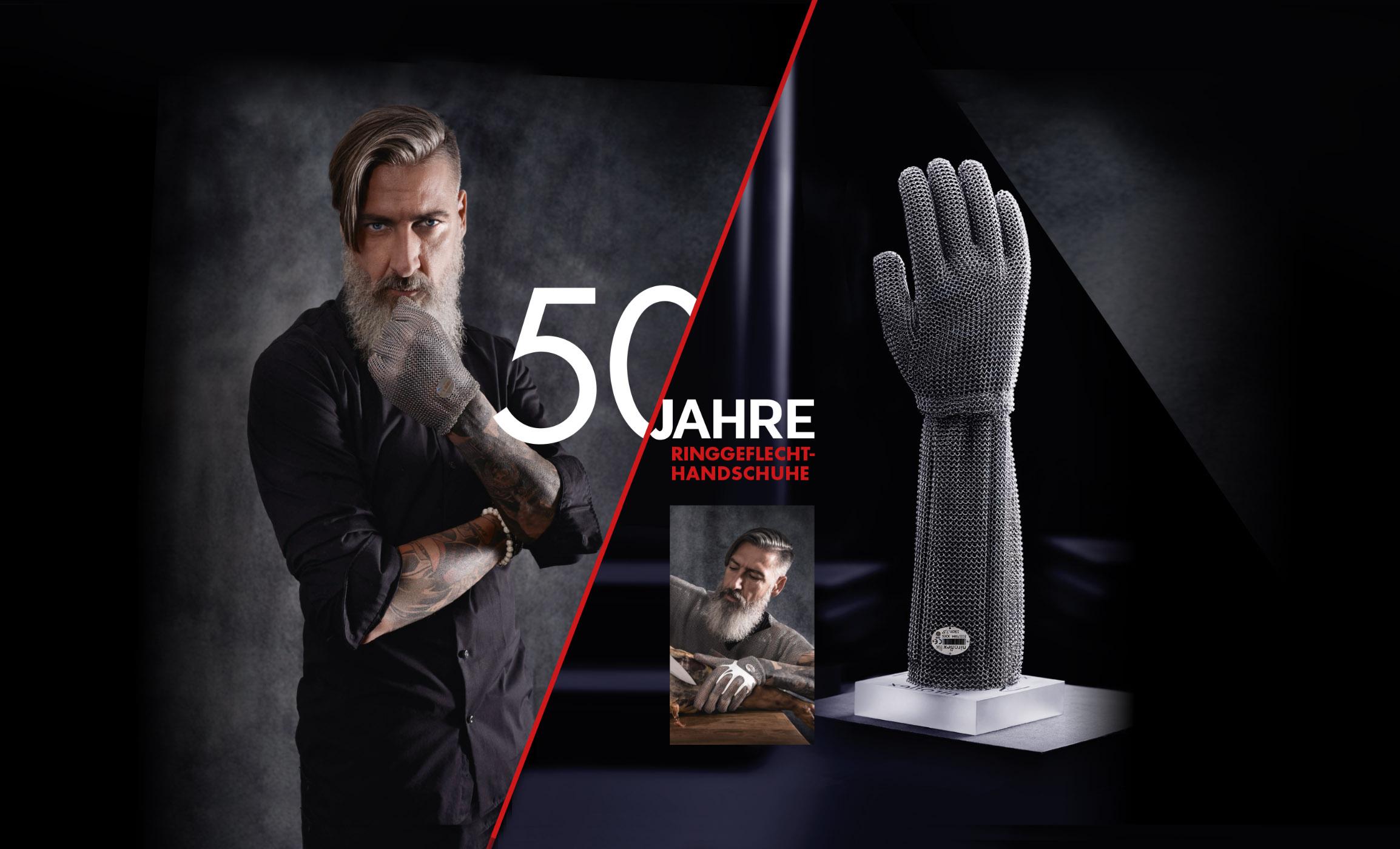 50 Jahre Ringgeflecht-Handschuhe – 50 Jahre Sicherheit