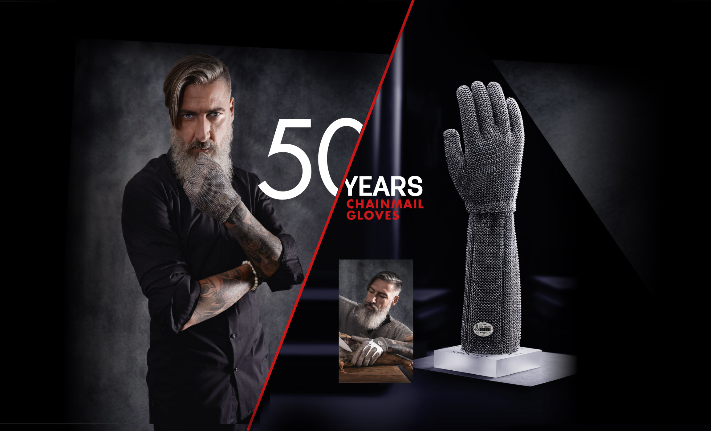 50 years of ring mesh gloves, 50 years of safety